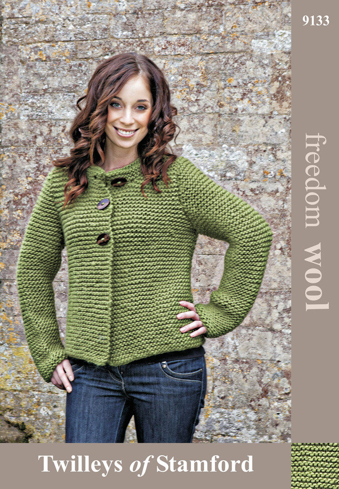 Garter Stitch Jacket in Twilleys Freedom Wool - 9133 | Knitting ...