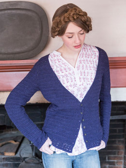 Mayflower Cardigan in Berroco Cosma