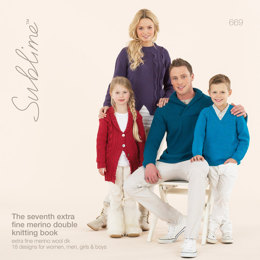 The Seventh Extra Fine Merino Double Knitting Book by Sublime - 669