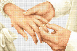 Luca-S Forever Wedding Ring Cross Stitch Kit - 20.5cm x 13.5cm