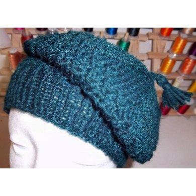 Purl Twist Knot Slouchy Hat