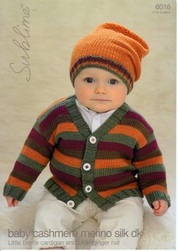 Cardigan and a Ginger Hat in Sublime Baby Cashmere Merino Silk DK - 6016