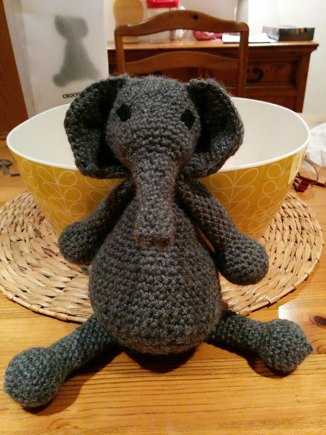 Elephant by Toft crochet project by Laura W | LoveCrochet