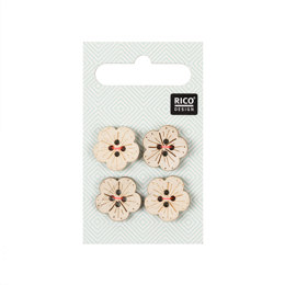 Rico Buttons In Flower Shape