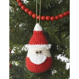 Santa Ornament in Lily Sugar 'n Cream Solids