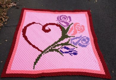 After My Heart with Roses Blanket