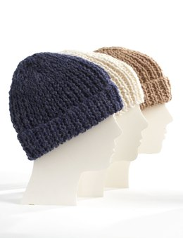Knit Family Toques in Bernat Alpaca