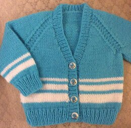 Vee Neck Cardigan in 2 sizes for a boy or girl