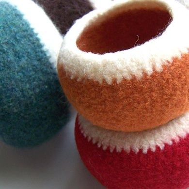 Little Felted Pods