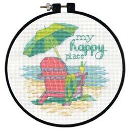 Dimensions My Happy Place Cross Stitch Kit - 7.6cm