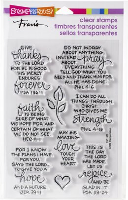 Stampendous Perfectly Clear Stamps - Bible Verses