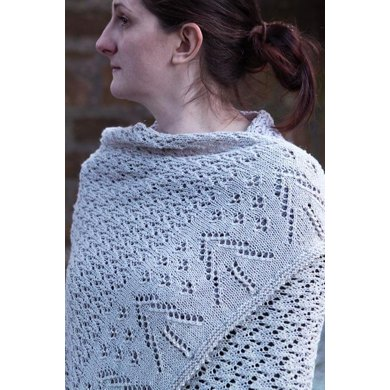 Winter Snow Shawl