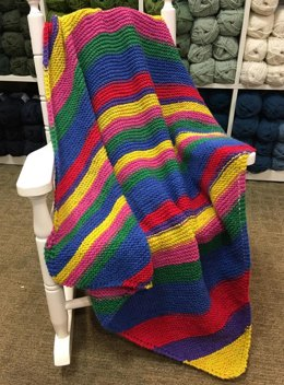 Diagonal Baby Blanket in Plymouth Yarn Hot Cakes - F827 - Downloadable PDF