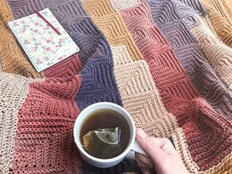 Continuous Mitered Square Blanket