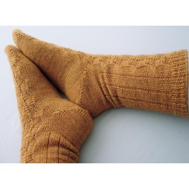 Toe Up Fir Cone Socks