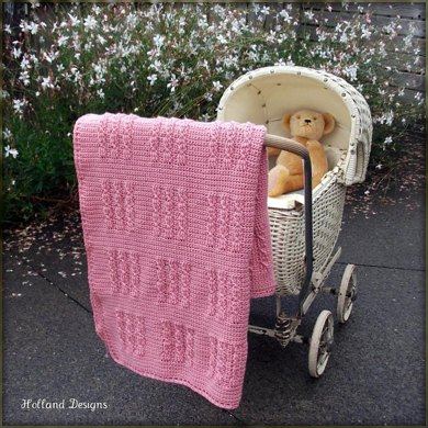 Cabled Squares Blanket