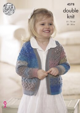 Cardigan and Waistcoat in King Cole Sprite DK - 4578