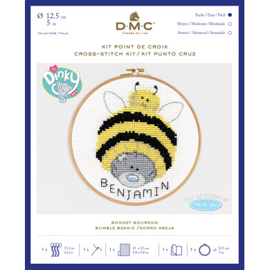 "DMC Me To You - Tatty Teddy & Tiny Tatty Teddy - Bumble Beanie (with 5"" hoop) - 12.5cm"