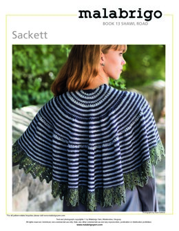 Sackett Shawl in Malabrigo Dos Tierras - Downloadable PDF