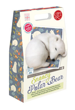 The Crafty Kit Company Snoozy Polar Bear Needle Felting Kit - 190 x 290 x 94mm