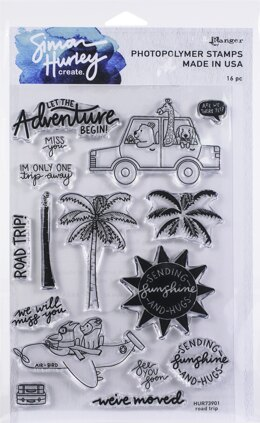 "Ranger Simon Hurley create. Cling Stamps 6""X9"" - Road Trip"