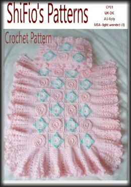 Crochet Pattern Moses Basket Cover UK & USA Terms #81