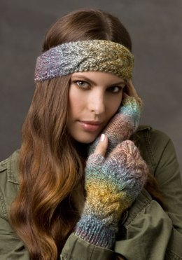 Cold Weather Cables  in Red Heart Boutique Treasure - LW2603