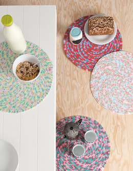 Round Placemat in Rico Creative Cotton Print Aran - 37 - Downloadable PDF