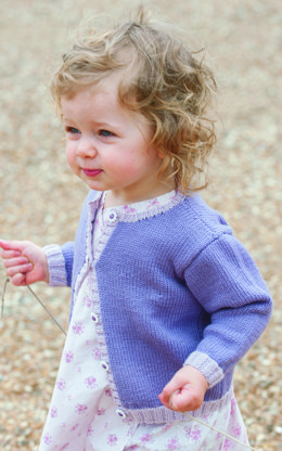Rodmell Baby Cardigan in Rooster Baby Rooster - Downloadable PDF