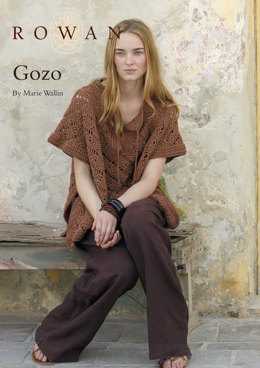Gozo Poncho in Rowan Cotton Glace