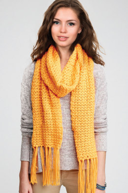Straight Up Scarf in Caron Simply Soft Brites - Downloadable PDF