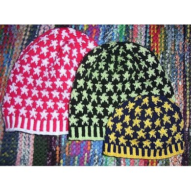 Stardust (family) beanie (5 sizes from baby to adult included)