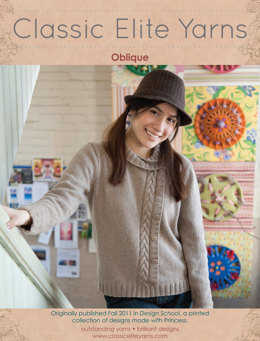 Oblique Pullover in Classic Elite Yarns Princess - Downloadable PDF