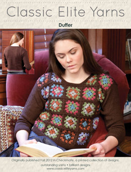 Duffer Pullover in Classic Elite Yarns Wool Bam Boo - Downloadable PDF