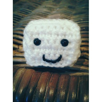 Mr Tofu (or Mr Ice Cube) amigurumi