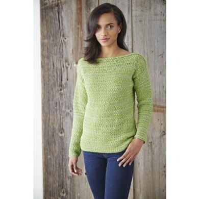 Boat Neck Pullover In Patons Glam Stripes Downloadable Pdf