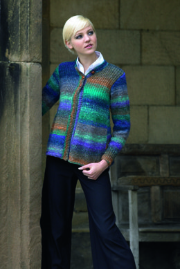 Cardigan in Noro Silk Garden
