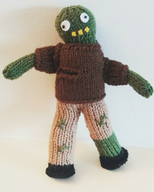 652d4e4850f Cute knitted Zombie doll pattern