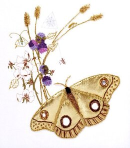 Rajmahal Goldwork Moth Embroidery Kit - 18 x 20 cm