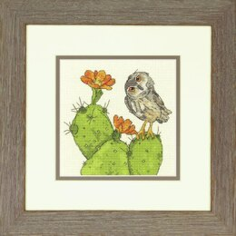 Dimensions Counted Cross Stitch Kit: Prickly Owl - 15.2 x 15.2cm