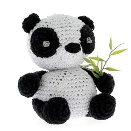 Panda Yin Toy in Hoooked Eco Barbante