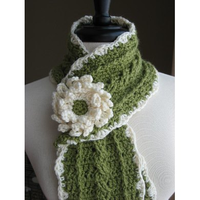 Country Crochet Cable Scarf