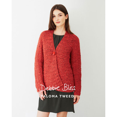 """Sideways Knitted Jacket"" : Jacket Knitting Pattern for Women in Debbie Bliss Super Bulky 