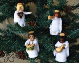 Musical Angels Ornament Festive Christmas Decoration Snoo's Knits