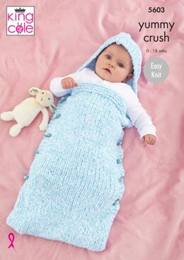 Sleeping Bags in King Cole Yummy Crush - 5603 - Downloadable PDF