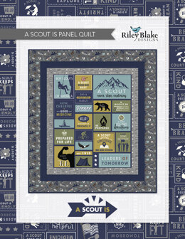 Riley Blake A Scout Is Panel Quilt - Downloadable PDF