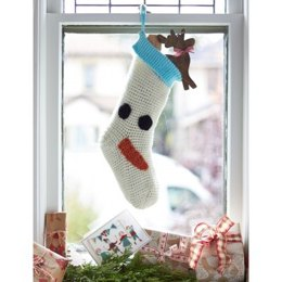Snowman Stocking in Bernat Super Value