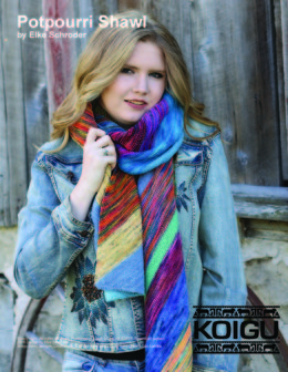 Potpourri Shawl in Koigu Painters Palette Premium Merino - Downloadable PDF