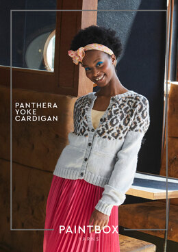 Panthera Yoke Cardigan in Paintbox Yarns - Downloadable PDF