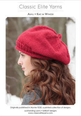Anyu Beret in Classic Elite Yarns Wynter - Downloadable PDF